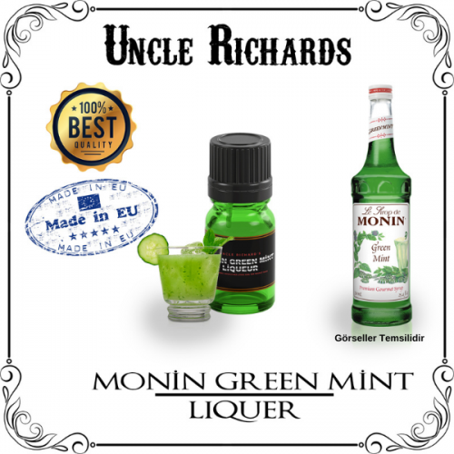 Monin Green Mint (Nane Likörü) Likör Aroması Kiti 10ML